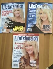 New listing THREE Suzanne Somers Covers Life Extension Magazine 2011 & 2012 Free Shipping