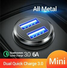 Dual QC 3.0  Car Charger for mobile phone PD3.0 Charger All Metal