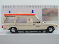 """Busch 52200 Mercedes-Benz VF 123 Miesen (1977) """"BRK Nürnberg"""" 1:87/H0 NEU/OVP"""