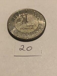 1999 2000 MILLENNIUM 5 POUND COIN Crown Anno Dominic Five Pounds