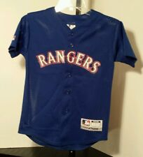 Texas Rangers #20 DeGuzman MLB Majestic jersey Size Youth/Boys Medium (10-12)
