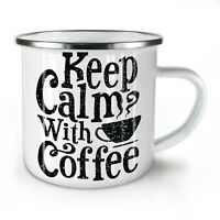 Keep Calm NEW Enamel Tea Mug 10 oz | Wellcoda