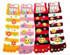 4 Paio Donna Ragazze Warm Five Fingers Toe Socks BED Lounge Calze di Natale idea regalo