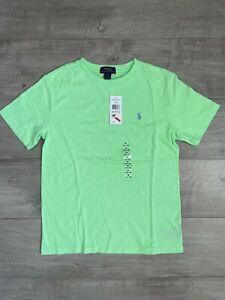 NWT Polo Ralph Lauren Boys Size 10-12 Cotton Crew Neck T-Shirt Lime Green