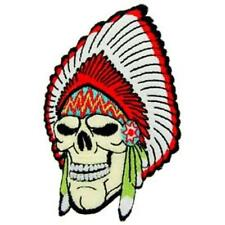 NATIVE INDIAN CHIEF SKULL PATCH (PM3118)