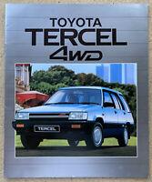 1986 Toyota Tercel 4WD original Australian sales brochure