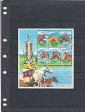 a96 - SIERRA LEONE - SG3757-3762 MNH 2001 WORLDS GREATEST RACEHORSES - SHEETLET