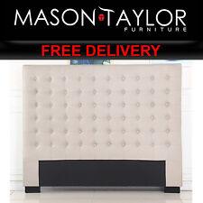 Mason Taylor Cilantro King Beige Bed Headboard V43-BED-CILNKBE