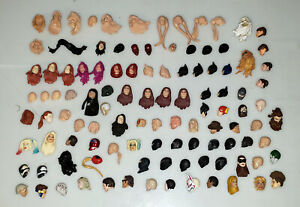 """LOT OF HEADS 4"""" 3.75"""" Star Wars GI JOE Marvel DC & More! GREAT FOR CUSTOMIZERS!"""