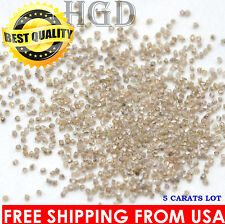 100% NATURAL Loose Rough Diamonds RARE Fancy Light Brown raw 1.10mm VS-SI 5crts