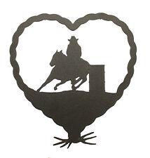 Barrel Race Racer Cowgirl Heart Wall Plaque