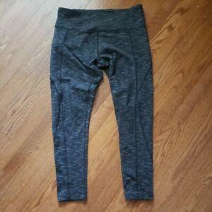 Mondetta Size Large Black & Gray Stretch Leggings Athletic Yoga Running Pants
