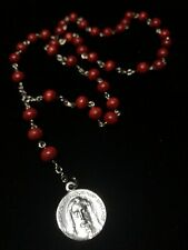 Chaplet of the Holy Face of Jesus - Handmade - 6mm Red Wooden Beads