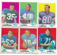 1969 Topps Detroit Lions Team Set with Alex Karras