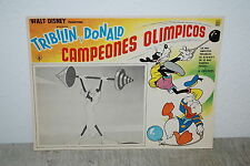 Donal Duck, Pluto Walt disney Movie Poster Original Mexican Lobby Card