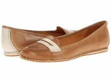 New NAYA Debbie Tan Lt Taupe Leather Classic Penny Loafers Shoes Flats Womens 5