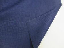 Navy squares/checked 100% Wool Curtain Fabric. Produced in Yorkshire England.