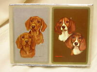 2 Vintage Playing Cards By Congress with Dogs Unopened Cel-U-Tone Finish