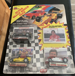 1990 Racing Champions Indy Cars Super Bonus Pack NIB Dobson, Mears, Unser