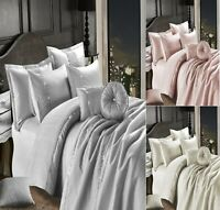 EMBROIDERED LEONA 100% Polyester Duvet Quilt Cover Set, Bed Set Or BedSpread C/C