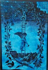 Blue Hippie Dorm Decor Wall Hanging Poster Tapestry Celtic Angel Table Cloth Art