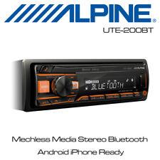 Alpine UTE-200BT - Mechless Usb Auxiliar Estéreo Bluetooth Multimedia Android iPhone Listo