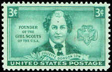 Scott # 974 - 1948 - ' Juliette Gordon Low & Girl Scout Emblem '
