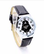Star Wars Darth Vader Leather Strap Wristwatch Black Wrist Watch Round Kids Men