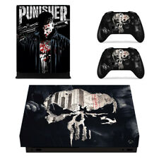 Punisher Skull Marvel Xbox one X Console Vinyl Skin Decal Sticker Cover Wrap Set
