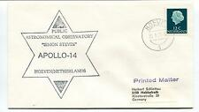 1971 Public Astronomical Observatory Simon Stevin Apollo 14 Hoeven Space Cover