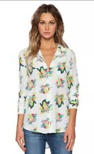Equipment Femme 'Reese' Tropical Floral Printed Silk Blouse Top Sz S NEW!!!