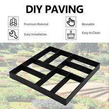 DIY Grid Driveway Paving Pavement Mold Path Slabs Garden Patio Walk Maker Mould