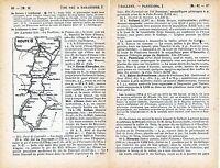 Pau - Zaragoza 1915 peq. mapa dentro testo orig. Jaca Somport Panticosa Biescas