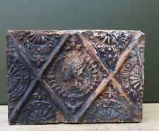 Nice quality 16th C. Dutch ceramic fireplace brick King Philips II from Spain