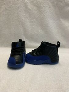 Nike Air Jordan 12 Retro Royal Blue Toddler Boys Black/blue Shoes~size 5 C