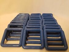 "Lot of 30 Square 3"" Three Inch Royal Blue Plastic Marbella Macrame Craft Rings"