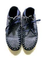 Nike Air Footscape Woven Chukka SE 857874-400 Size 9 Men's Obsidian/Black Denim
