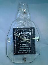 JACK DANIELS  WHISKY 1 LITRE ORIGINAL BOTTLE CLOCK, RECYCLED, MAN CAVE/BAR GIFT