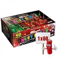 Feu d'Artifice Batterie Compact Nuit D'été 60 Départs Multicolores et Crépitants