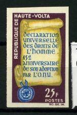Burkina Faso 1963 Mi. 140 Nuovo ** 100% Non dentellati Dichiarazione Universale