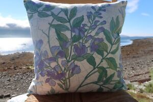 """Vintage Sanderson 'Wisteria' PAIR of 18"""" Cushion Covers. Exact Ones"""