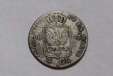 GERMANY PRUSSIA 4 GROSCHEN 1807 SILVER B36 #K3947