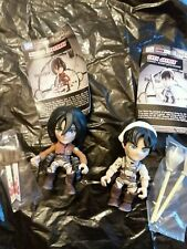 Loyal Subjects Attack On Titan Mini-Figures - Mikasa Ackerman & Eren cleaner