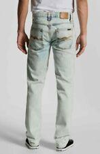 SALE new NUDIE GRIM TIM BLEACH DEPOT Slim Straight Mens Jeans W30 L36 long