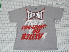 TAPOUT Short Sleeve T-Shirt - Men's Size L - Fight For What You Believe Tee