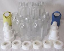 Lot of EVENFLO Glass Baby Bottles 26 Pieces Silicone Wrap 8 4 oz Caps