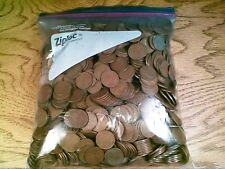 1000 Circulated Wheat Back Lincoln Cents Mixed Dates (101)