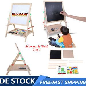 2 in1 Kinder Tafel Staffelei Zeichenbrett Magnettafel Standtafel Whiteboard NEU