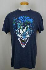 The Joker T-Shirt DC Comics Batman Demented Stare Graphic Tee Navy Blue NWT