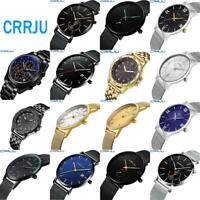 Fashion Men Ultra-thin Dial Wrist Watch Stainless Steel Analog Quartz Wristwatch